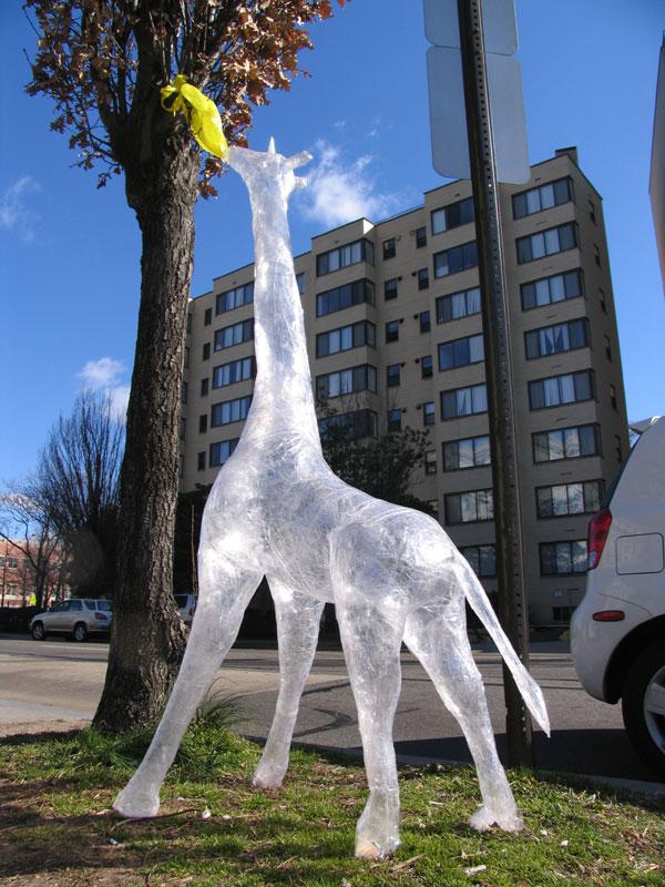 Plastic giraffee