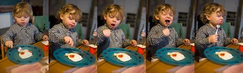 Jan eet een ei