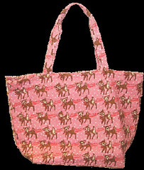 Cram Cream Pink Deer Tote bag