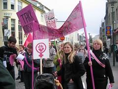 Manifestation de féministes en Islande