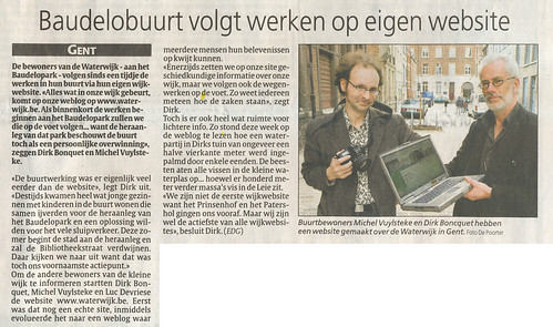 In de gazet