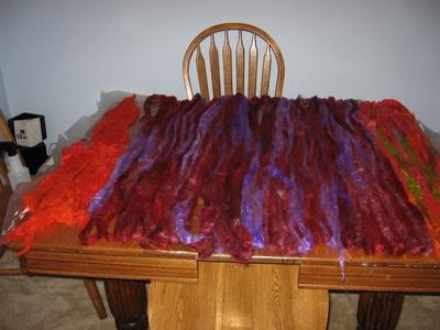 fleece drying