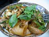 kimchi, pork, basil