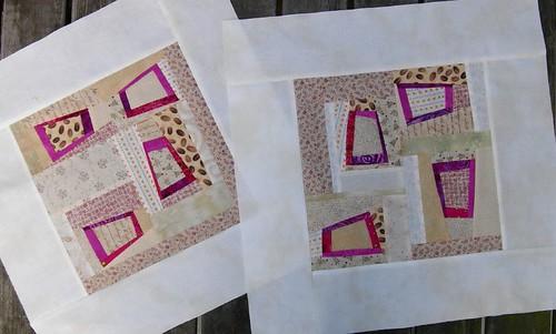 Pink cushions, progress