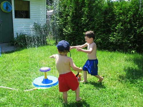 around the sprinkler