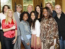 Bush, Cheney and American Idol finalists