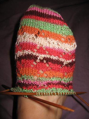 lace sock in progress