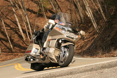 My dad on his Goldwing