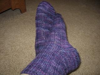 Fleece Artist Midnight socks.JPG