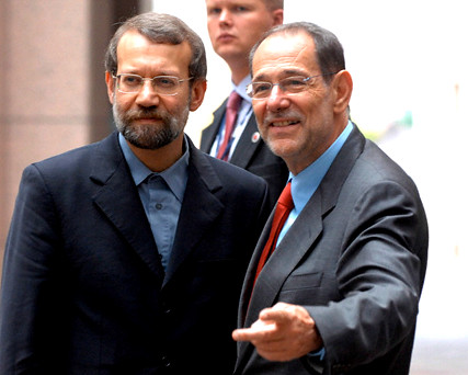 EU for pol chief Solana and Iran's nuclear negotiator Larijani in Brussels 11 Jul 2006