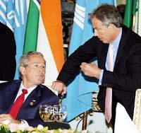 Bush, Cheney and Blair at the G-8 Summt