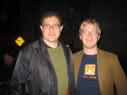 Tantek and Chris -- photo by Tara Hunt