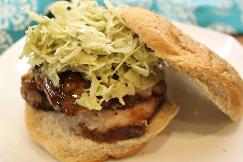 Balsamic Pork Sandwich w/ Cilantro Cabbage