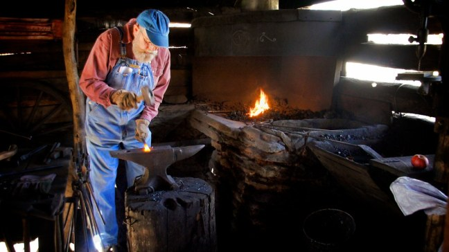 Blacksmith at Mabry Mill
