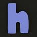 Foam letter  h