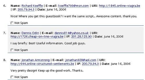 Akismet: spam detector for WordPress