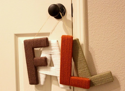 'Fall' Yarn Letter Sign