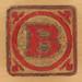 Vintage Wooden Block Letter B