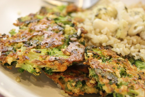 Broccoli Patties & Rice
