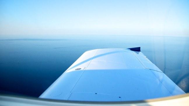 Lake Michigan off my right wingtip