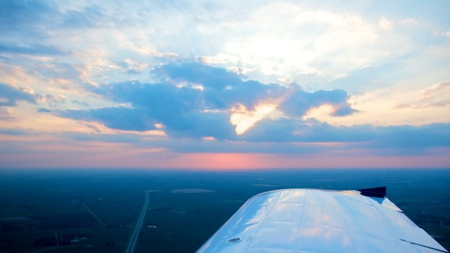 Returning to Cushing Field at dusk