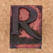 rubber stamp letter R