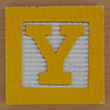 Fridge Magnet Letter Y