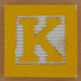 Fridge Magnet Letter K