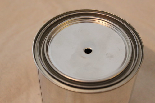 Drilling a Paint Can Lid