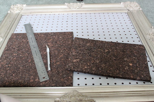 Dark Cork Tiles, Cutting