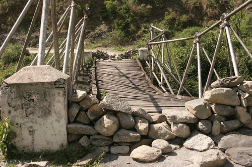 Uttaranchal Bridge, road from Munsiyari to Thal, May2006