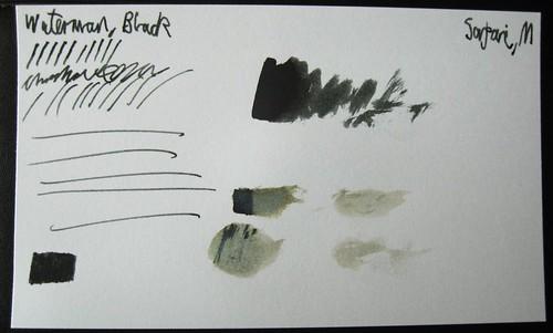 Sample - Waterman Black on Index Card