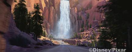 Lightning's waterfall