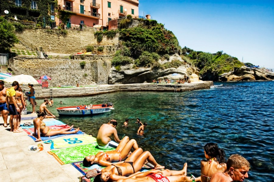 Sunbathing on the Mediterranean