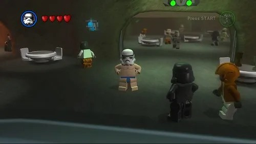 Lego Star Wars II - naked Stormtrooper