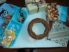 brown & aqua swap sent to Kim