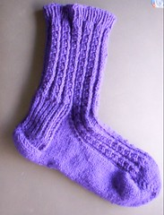 Dimple Sock 1 done