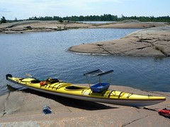 The tandem kayak with Ollie's Kayak crate