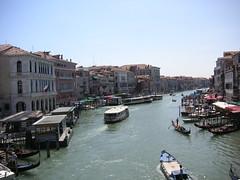 view from the ponte de rialto