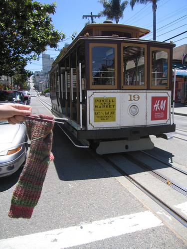 New York Minknit: The Sock Rides a Cable Car