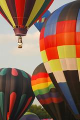 balloons drifting away