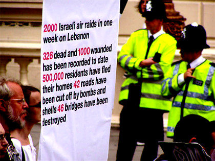London Protests against War in Lebanon - 22 July 2006