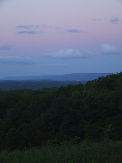 eastern clouds after sunset