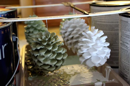 Paint Dipped Pinecones
