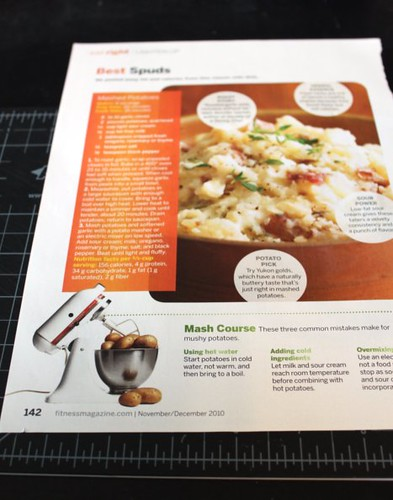 Magazine Recipe Storage