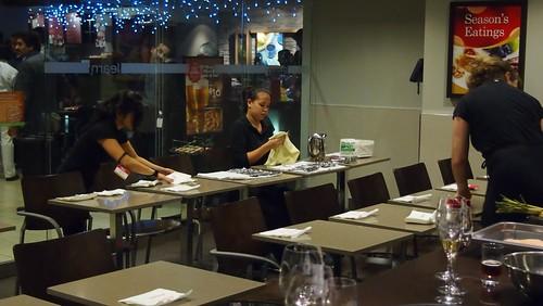 Corks Team Setting up for Taste Ontario Taste the World