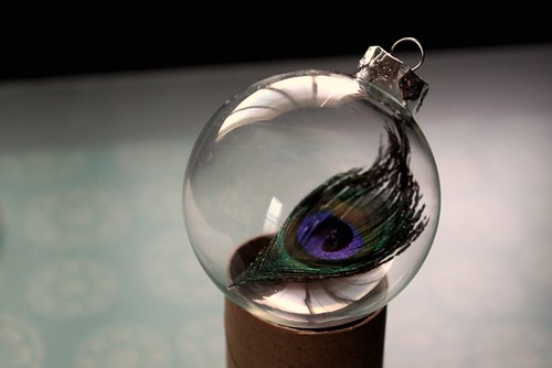 Peacock Feather Christmas Ornament