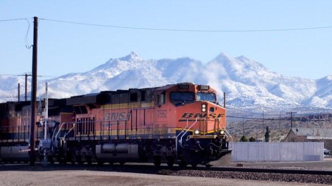 Locomotive along Route 66