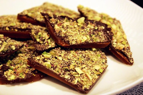 Dark Chocolate Pistachio Toffee