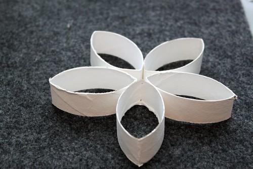 Cardboard Flower Holiday Ornament